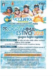 Programma estivo Acquatika Abruzzo